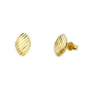 Złote kolczyki - fasetowane
