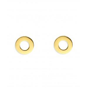Złote kolczyki - oponki