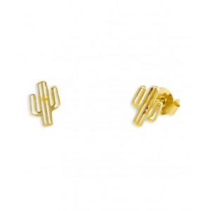 Złote kolczyki - kaktusy