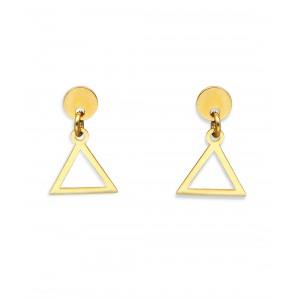 Złote kolczyki - trójkąt