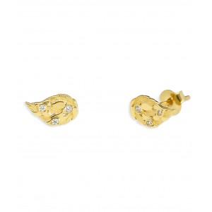 Złote kolczyki - skrzydełka