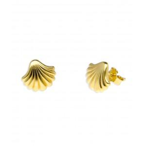 Złote kolczyki - muszelki