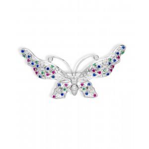 Srebrna Broszka - Motyl