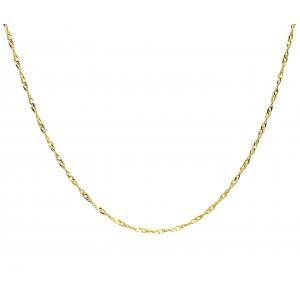 Złoty łańcuszek singapur 45cm