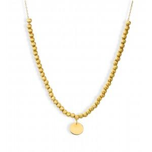 Złoty naszyjnik - blaszka