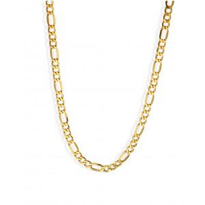 Złoty łańcuszek figaro - 55cm