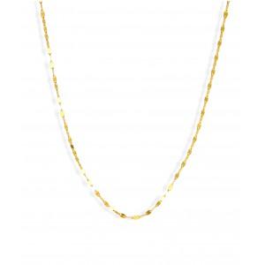 Złoty łańcuszek kawa - 45 cm