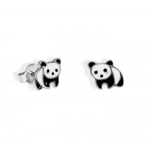 Srebrne Kolczyki - Pandy