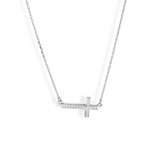 Srebrny Naszyjnik - Krzyżyk
