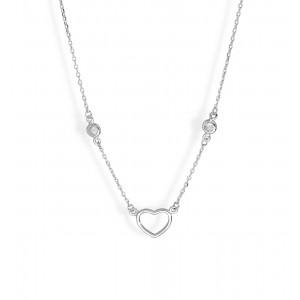 Srebrny Naszyjnik - Serce