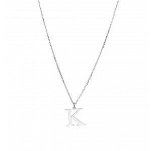 Srebrny Naszyjnik Z Literką K