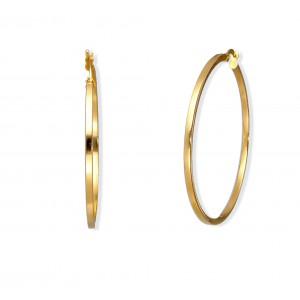 Złote kolczyki - koła 4,5cm