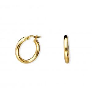 Złote kolczyki - koła 2,0cm