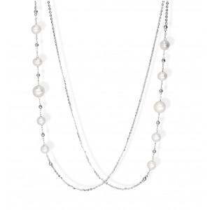 Srebrny naszyjnik z perłami...