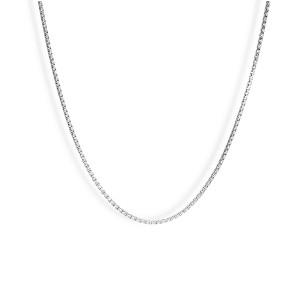 Srebrny Łańcuszek Kostka 45cm