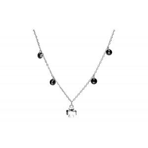 Srebrny naszyjnik - koniczynka