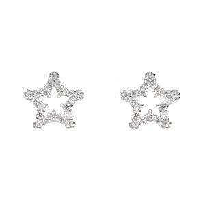 Srebrne kolczyki - gwiazdki
