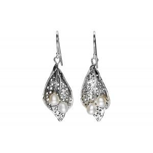 Srebrne kolczyki z perłami